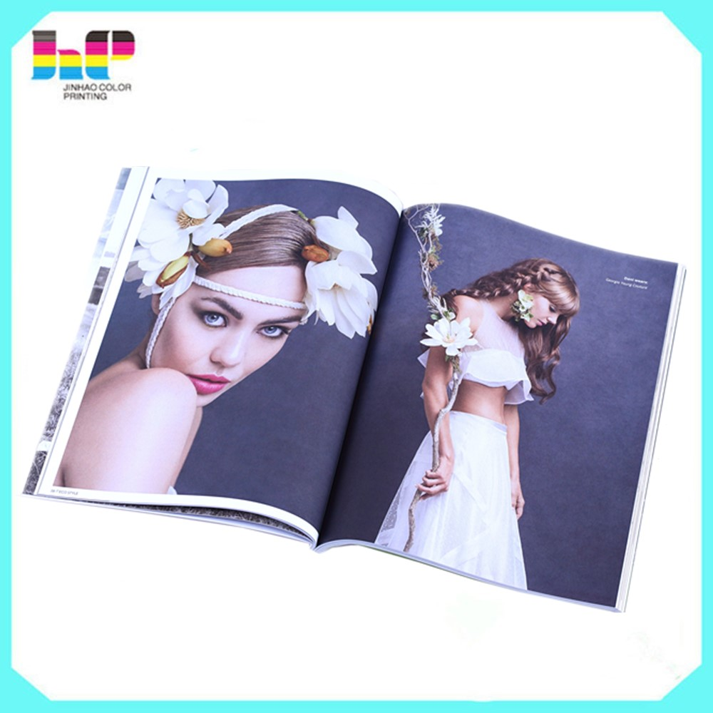 Wholesale factory price printing fashional customized girls beauty magazine