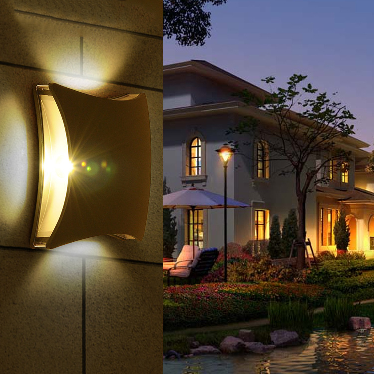 up and down wall light led IP54 Die casting aluminum alloy with PC cover hotel led wall light indoor