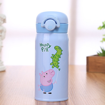 Customized Stainless Steel Student Cartoon Piglet Vacuum Cup