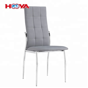 Gray Elegant Design PU Leather Dining Side Chairs
