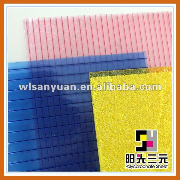 Colored Hollow Double Wall Plastic Roof Sheets Solar Roof