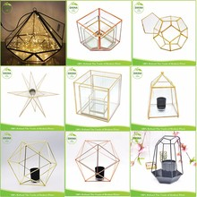 chinese wedding decorations supplies place card holder Star square metal Antique Lamp Brass Ship glass hanging nautical lantern