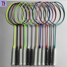yiwu futian market colored racket top grade professional Graphite Carbon Fiber frame of badminton racket