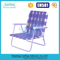 Durable Aluminum Folding Colored Lawn Chairs With Webbing
