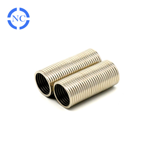 Super strong natural rare earth n35 ring sintered neodymium magnet
