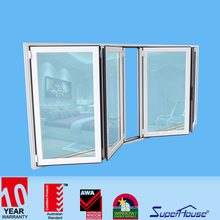 Modern tempered glass house windows energy efficient german style windows