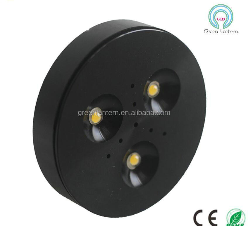 3W 12V Dimmable LED Under Cabinet Light Puck Lights Warm White/Cool White for Kitchen Lighting AC85-265V