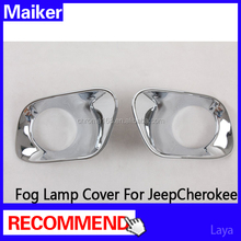 for Jeep Cherokee accessories front abs Fog lamp cover auto accessories 4*4