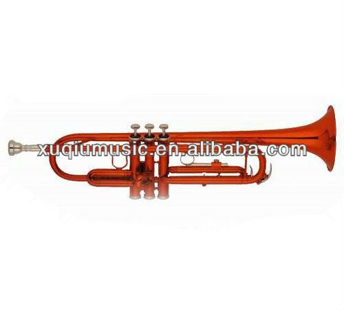 XTR007 Trumpet/Colored Brass Instrument/Red Color Trumpet