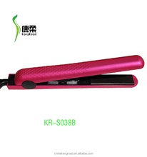 fashion velvet touch pink ceramic hair straightener kangroad-S038B