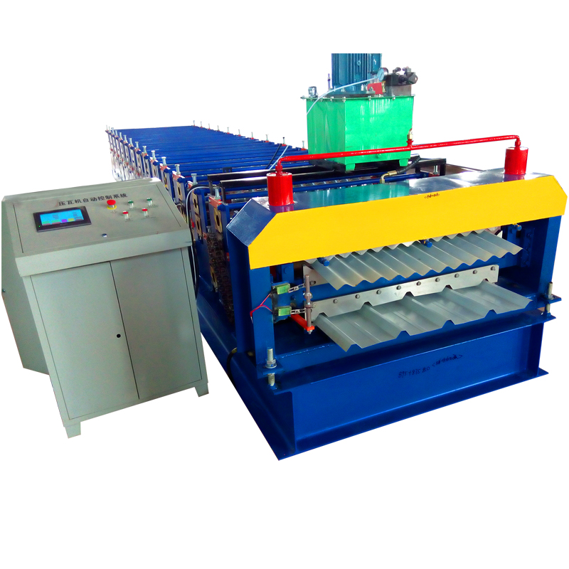 Double layer steel profile wallroof shape frame roofing pannel sheet tile rollforming 2 in 1 roll forming machine