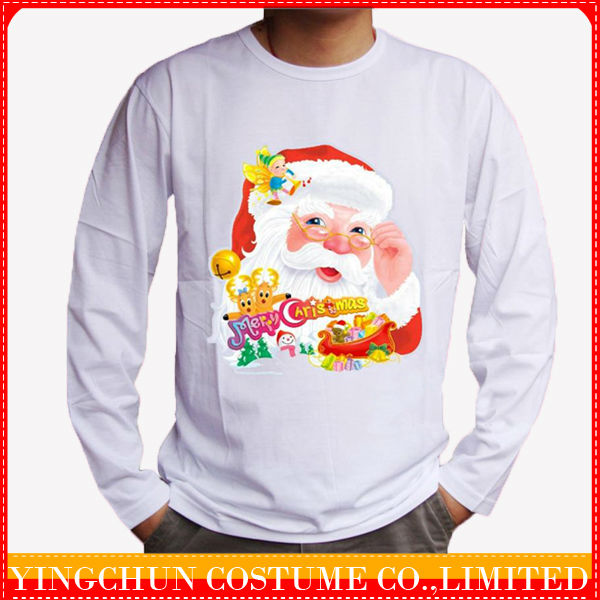 new design cotton christmas t shirt for family