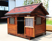 New design luxrious outdoor customized wooden dog kennel wholesale