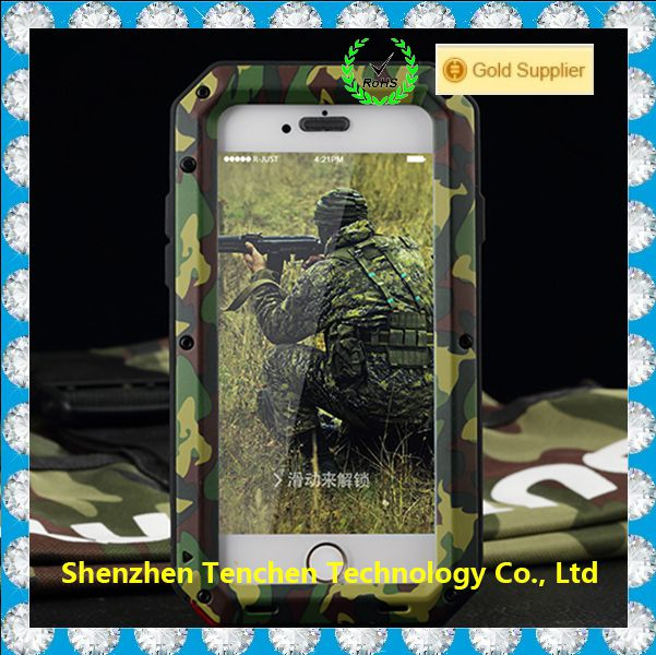 Metal Camo Mobile Phone Case Heavy Duty Military Case For Iphone 4 5 6 6s Plus