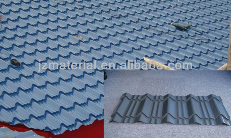 Roman type metal roof tile1000mm(factory)/aluminum roofing sheet/corrugated sheets versatiles