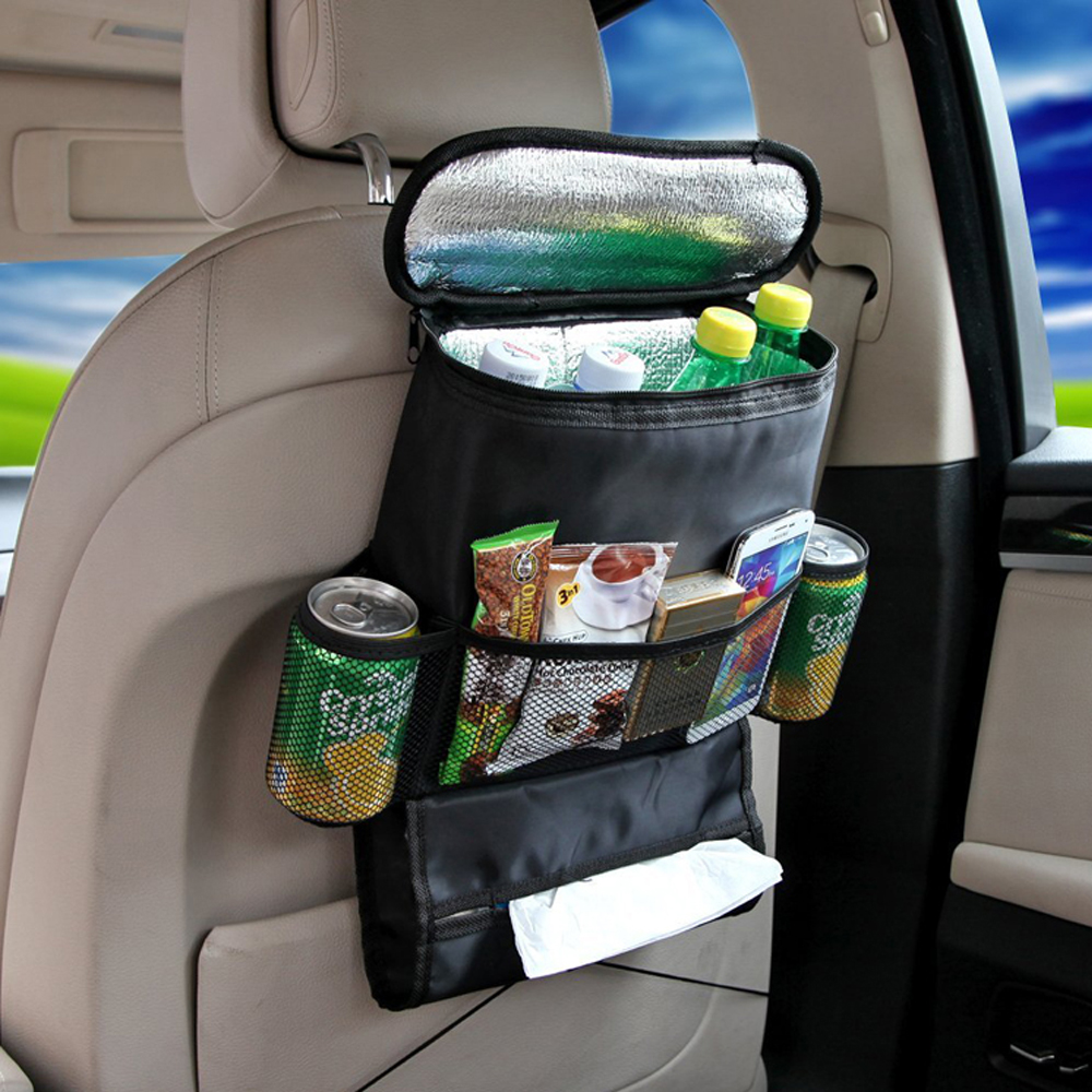 Insulated Car BackSeat Organizer Cooler Car BackSeat Organizer For Travelling