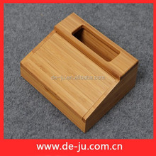 Official Desk Name Card Holder Cheap Small Bamboo Box