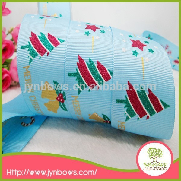 Cheap wholesale high quality cute printed polyester grosgrain ribbon