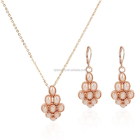 Wholesale high quality jewelry fashion pearl necklace and earring sets