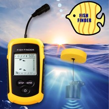 Portable Yellow Color Sonar Sounder Alarm Transducer fishing echo Fish Finder