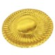 Best Supplier Stocked Round Disposable Laminate Golden Paper Plate Gold For Birthday Party Small MOQ