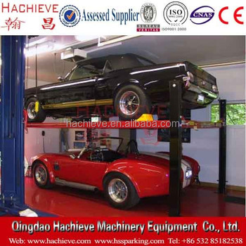China cheap 4 post parking lift double parking auto lift