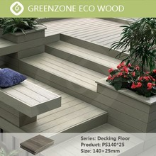 natural style easy installation high quality wpc outdoor hardwood decking