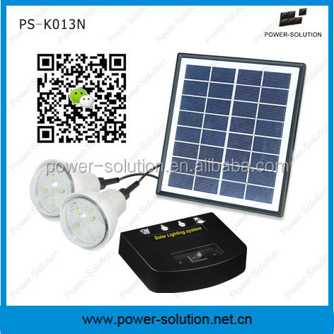 Hot-sale integrated solar panel and led light for 2rooms
