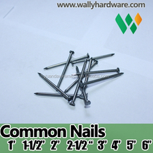 "china nails manufacture top quality bright polished 1/2"" 3/4"" 5/8"" 1"" inch common nail common wire nail"