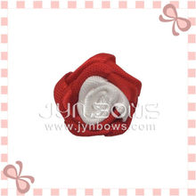 Beutiful Red Flower girls hair accessories ribbon