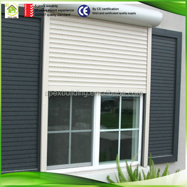 New remote control exterior roll up window aluminium security shutters residential