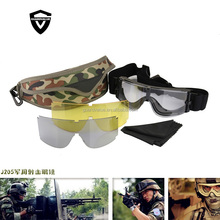 Helmet Goggles Airsoft Tactical Ballistic Anti-Fog Goggles Military Safety Glasses for Helmets with Side Rails