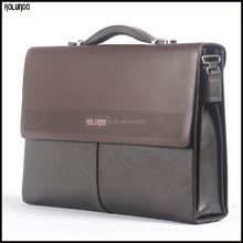 Men genuine cow leather 13 inch laptop briefcase