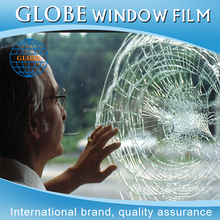 Clear explosion-proof smash and grab protection security window film