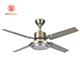 52 inch Modern Industrial Reversible steel Blade Remote Controlled Ceiling Fan with LED light