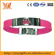 Adjustable metal silicone bracelet for adidas in the hot sale