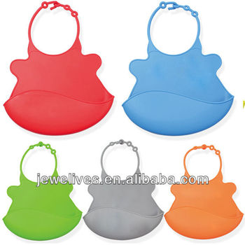 Wholesale silicone bibs with crumb catcher