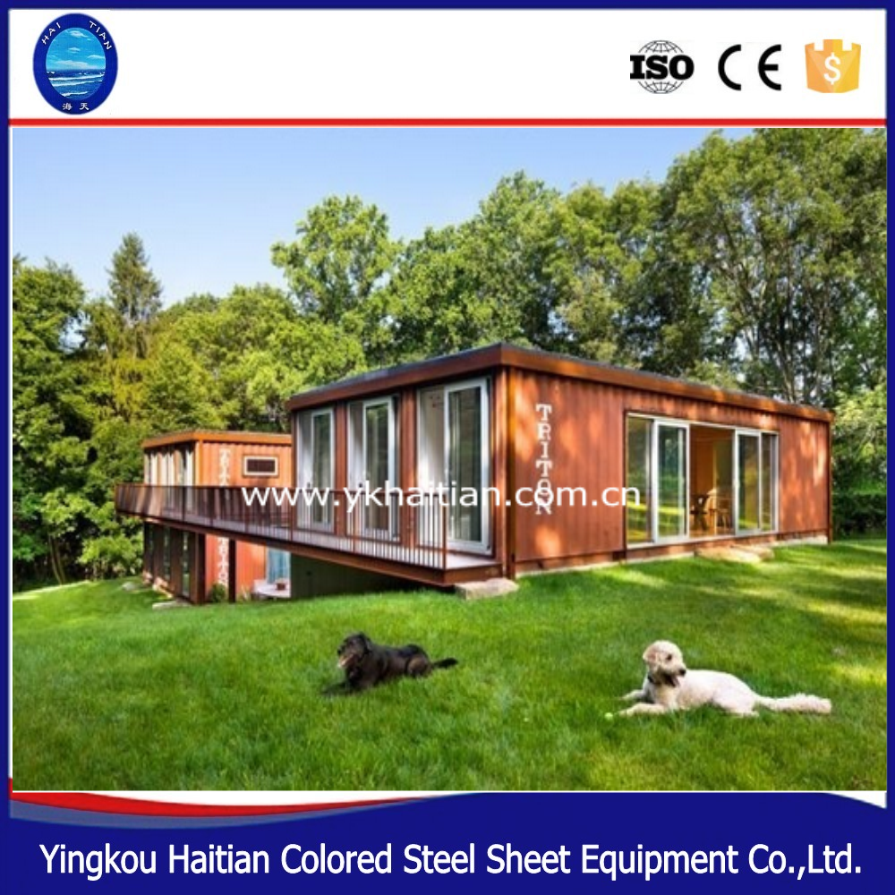 china affordable luxury modern 40ft container home/prefabricated house steel container home for sale