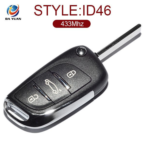 Folding remote for Peugeot 408 2014 2015 models 3B key 433Mhz frequency AK009030