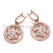 Brand name Leopard Styles Earring Hot Sale 925 silver jewelry
