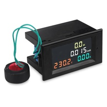 D69-2049 Digital multi-function electricity <strong>meter</strong> 100A AC200-450V Power Energy Voltmeter Ammeter watt current <strong>meter</strong> with