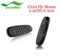 Original Rechargeable Wireless GYRO Air Fly Mouse and Keyboard Combo 2.4GHz G Mouse II C120 Air Fly Mouse T10