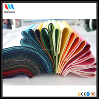 Colorful Nylon Fabric Laminated Soft SBR