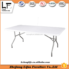 200cm rectangle travel folding simple office table with adjustable legs