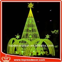 Alibaba supplier led lights tree outdoor christmas train decoration