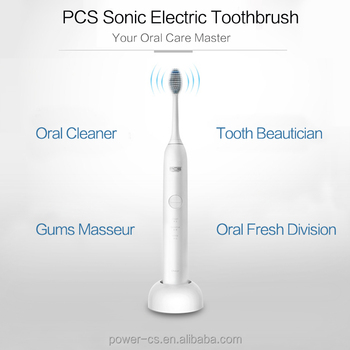 2016 newest design 3 cleaning modes white clean sensitive sonic electric toothbrush
