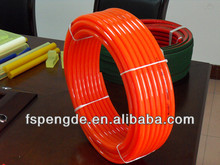 10mm orange smooth surface pu rope conveyor belt