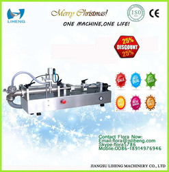 Table type manual liquid filler semi automatic liquid filling machine