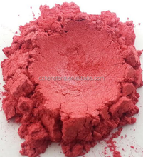 Red cosmetic pearlescent pigments