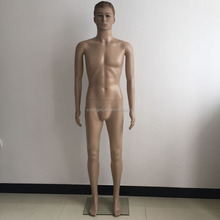 Full Body Standing Eco Friendly Male Mannequin Wig Head Skin Color Model